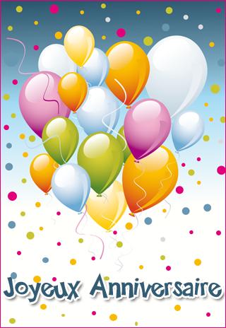Carte anniversaire à imprimer