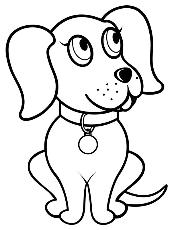 Coloriage à imprimer : un chien, dessin 2