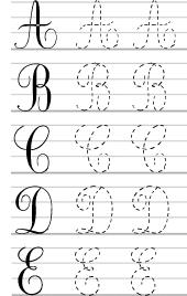 comment apprendre ecriture cursive