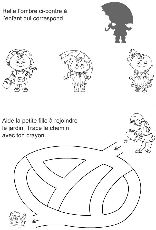 Jeux à imprimer : labyrinthe, l'ombre - Turbulus, jeux pour enfants