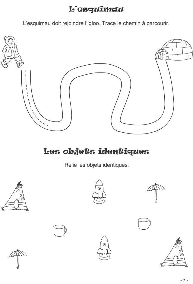 Jeux � imprimer pour enfants de 3-4 ans, page7 - Turbulus