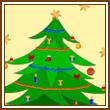 Coloriage en ligne d'un sapin de Noël