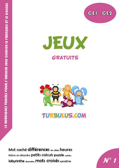 Cahier De Jeux Ce1 Ce2 Turbulus Jeux Pour Enfants