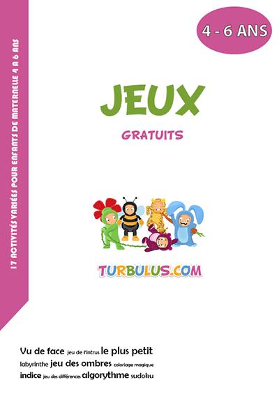 Cahier gratuit à imprimer maternelle - Turbulus, jeux pour ...