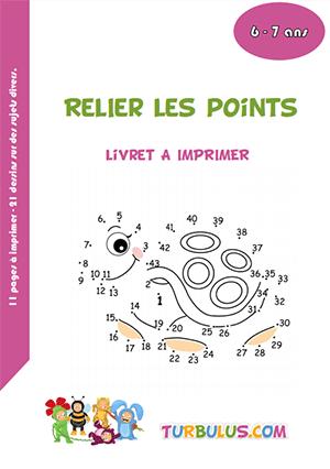 Cahier A Imprimer Relier Les Points Turbulus Jeux Pour Enfants