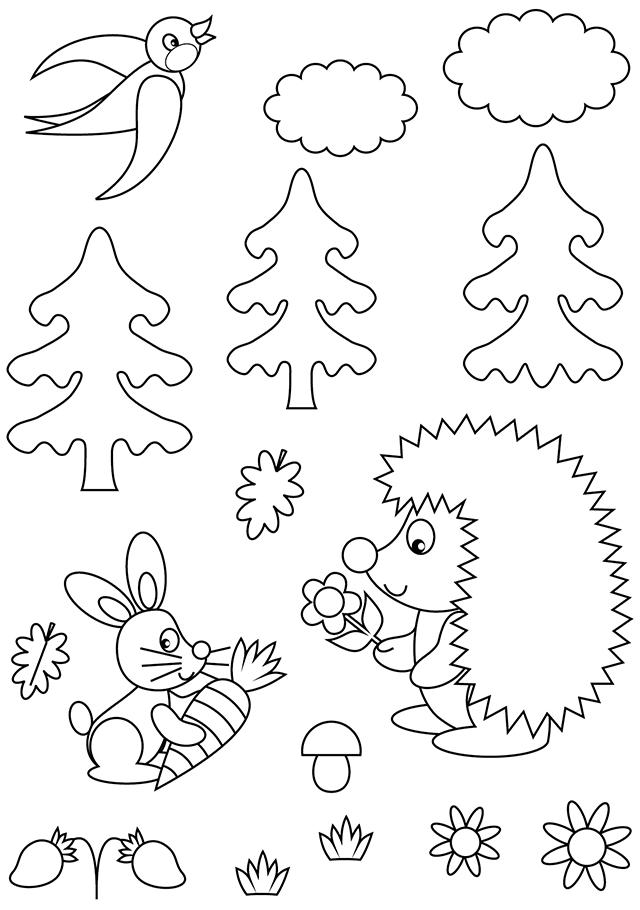 coloriage les animaux de la for t turbulus jeux pour. Black Bedroom Furniture Sets. Home Design Ideas