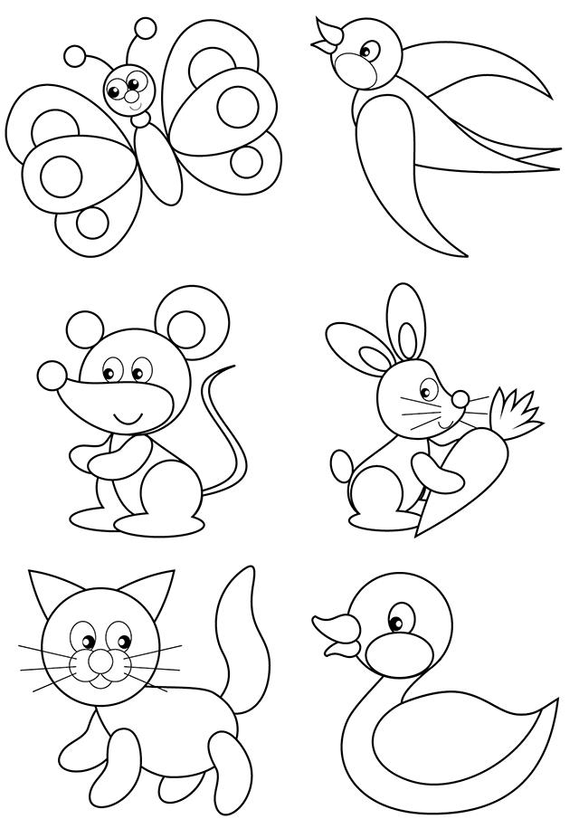 coloriages d 39 animaux pour les tout petits turbulus jeux pour enfants. Black Bedroom Furniture Sets. Home Design Ideas