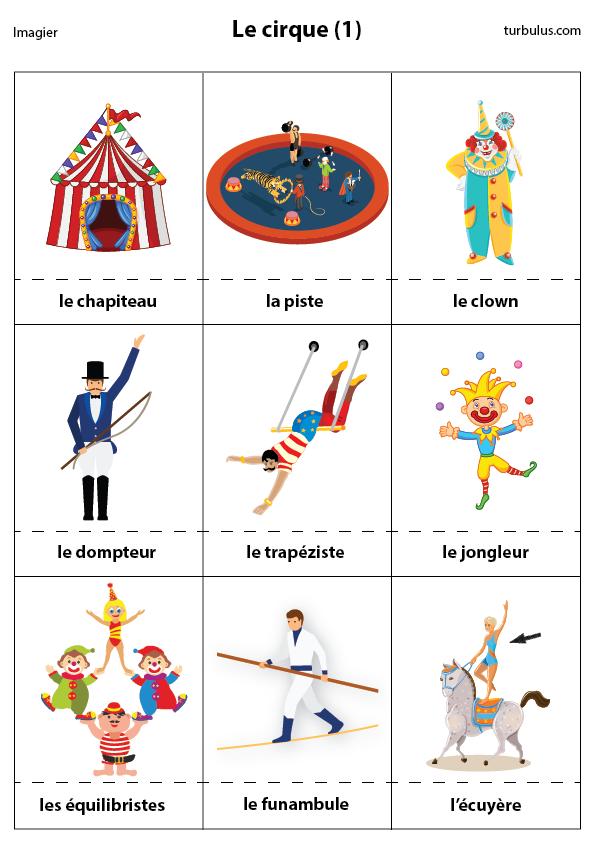 Coloriage Piste Cirque.Imagier Le Cirque 1 Turbulus Jeux Pour Enfants