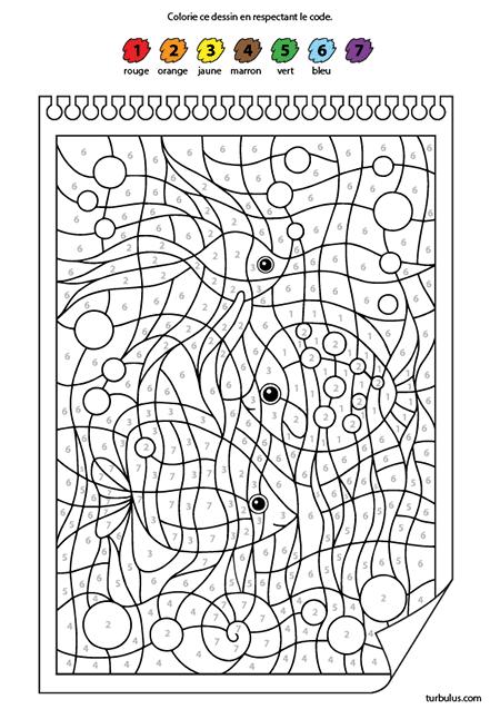 Coloriage Magique Les Poissons Turbulus Jeux Pour Enfants
