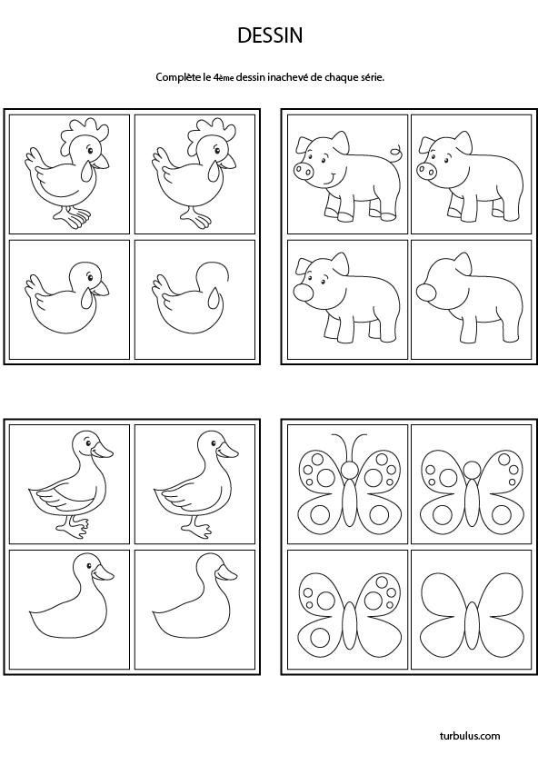 Dessins D Animaux A Completer Turbulus Jeux Pour Enfants