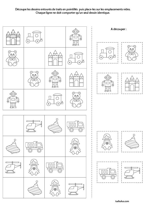 Sudoku Facile Pour Tout Petits Turbulus Jeux Pour Enfants