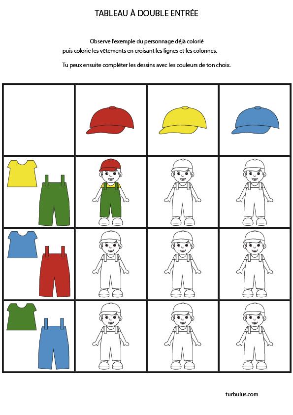 Tableau A Double Entree A Imprimer Turbulus Jeux Pour Enfants