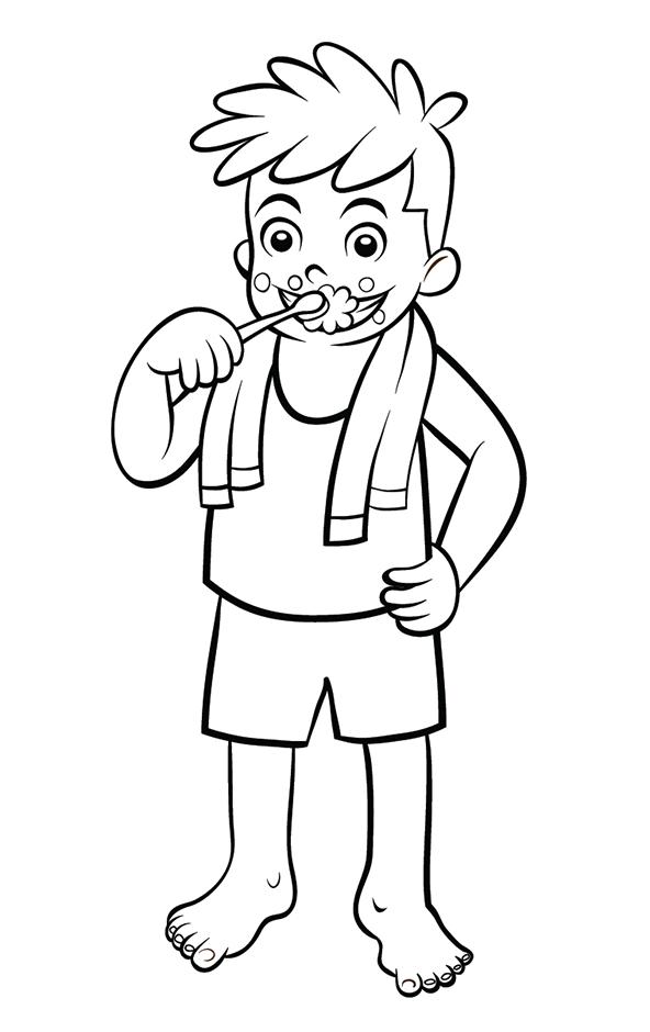 coloriage imprimer un enfant qui se brosse les dents turbulus jeux pour enfants. Black Bedroom Furniture Sets. Home Design Ideas