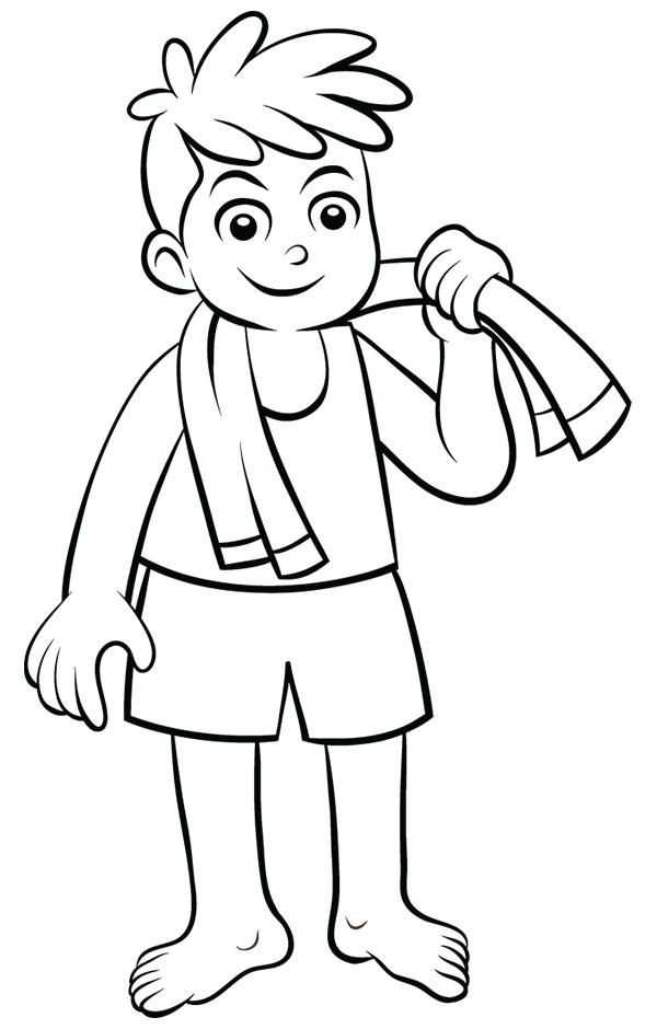 dessin imprimer un enfant qui part prendre une douche turbulus jeux pour enfants. Black Bedroom Furniture Sets. Home Design Ideas