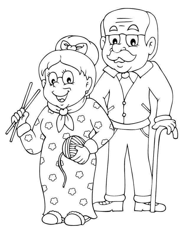 Coloriage A Imprimer Les Grands Parents Turbulus Jeux Pour Enfants