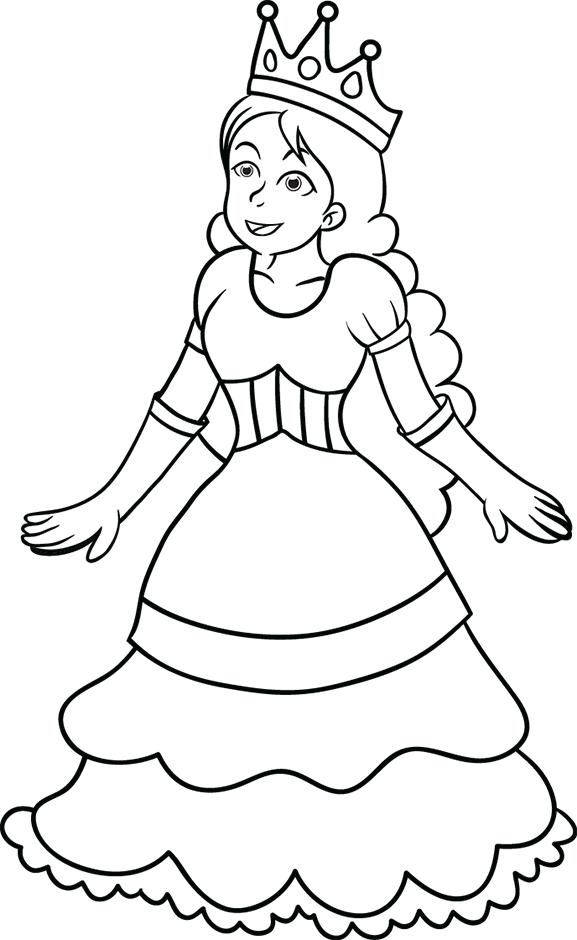 Coloriage, la princesse - Turbulus, jeux pour enfants