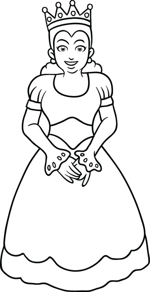 Coloriage la reine turbulus jeux pour enfants - Reine coloriage ...