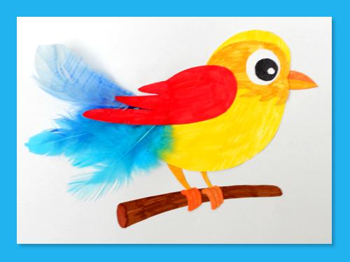 Activit manuelle un oiseau d couper turbulus jeux - Activite manuelle avec du papier ...