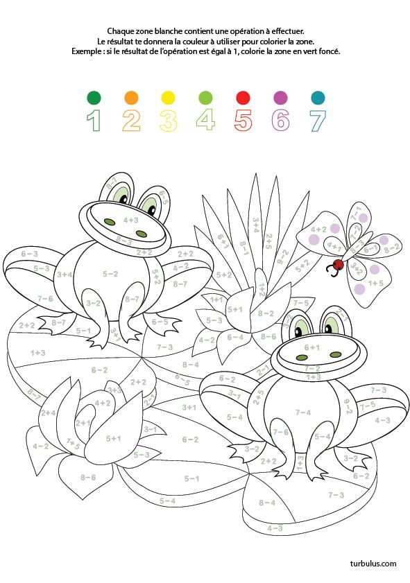 Coloriage Code Grenouille.Coloriage Magique Les Grenouilles Turbulus Jeux Pour Enfants