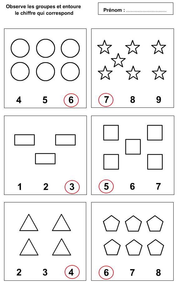 fiche d 39 exercices imprimer pour apprendre compter 1 9 turbulus jeux pour enfants. Black Bedroom Furniture Sets. Home Design Ideas