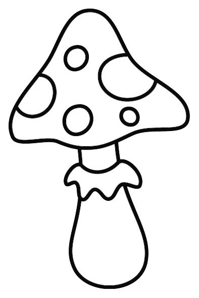 Coloriage un champignon turbulus jeux pour enfants - Dessin de champignons a imprimer ...