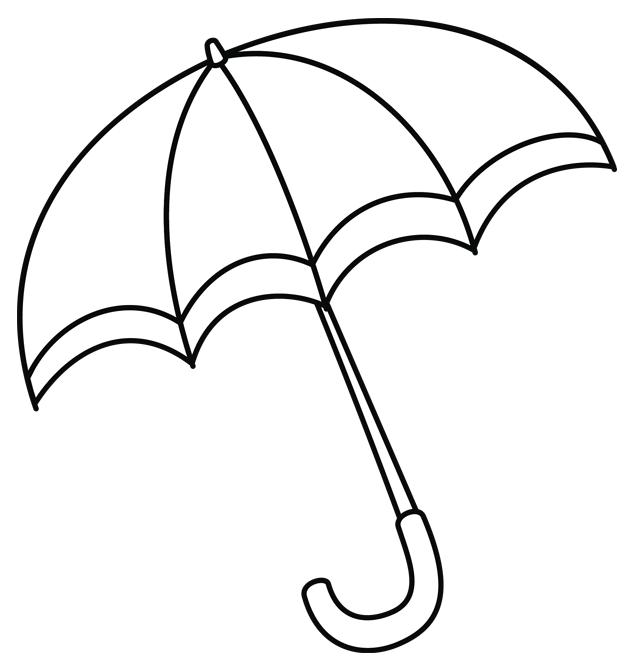 Coloriage un parapluie turbulus jeux pour enfants - Parapluie dessin ...