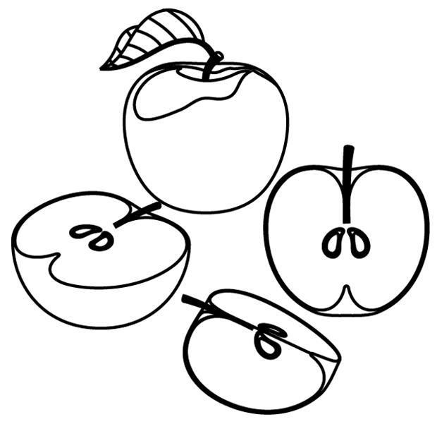 Coloriage des pommes turbulus jeux pour enfants - Dessin tarte aux pommes ...