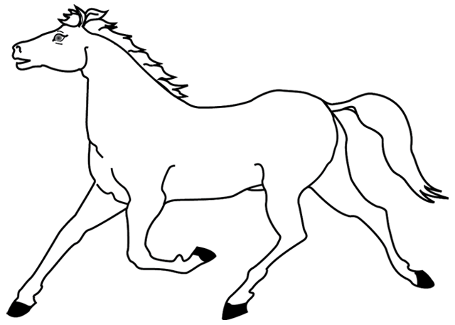 Coloriages imprimer un cheval dessin 1 turbulus - Dessin cheval facile faire ...