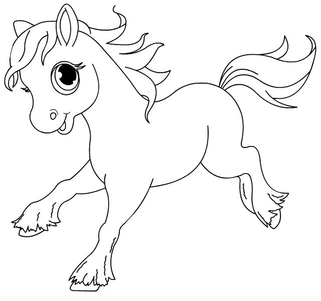 dessin a imprimer cheval