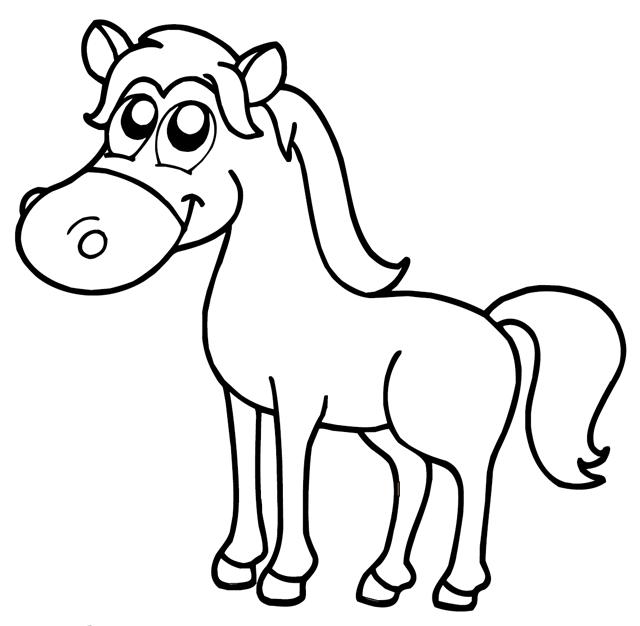 Coloriage Cheval Et Princesse A Imprimer.Coloriage A Imprimer Un Cheval Turbulus Jeux Pour Enfants