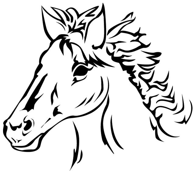 Coloriage imprimer la t te d 39 un cheval turbulus jeux pour enfants - Chevaux a colorier et a imprimer ...