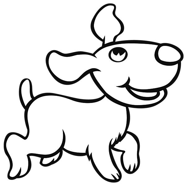coloriage imprimer un chien dessin 11 turbulus jeux pour enfants. Black Bedroom Furniture Sets. Home Design Ideas