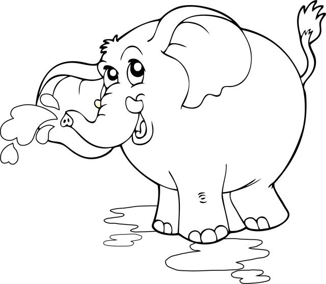 Coloriage imprimer un l phant turbulus jeux pour - Elephant en dessin ...