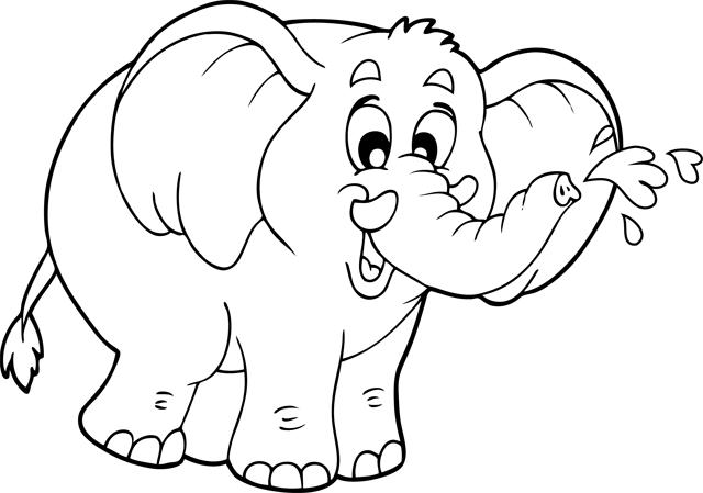dessin a imprimer elephant