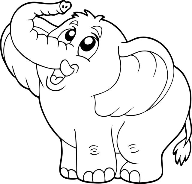 Häufig Coloriage : un éléphant - Turbulus, jeux pour enfants JG27