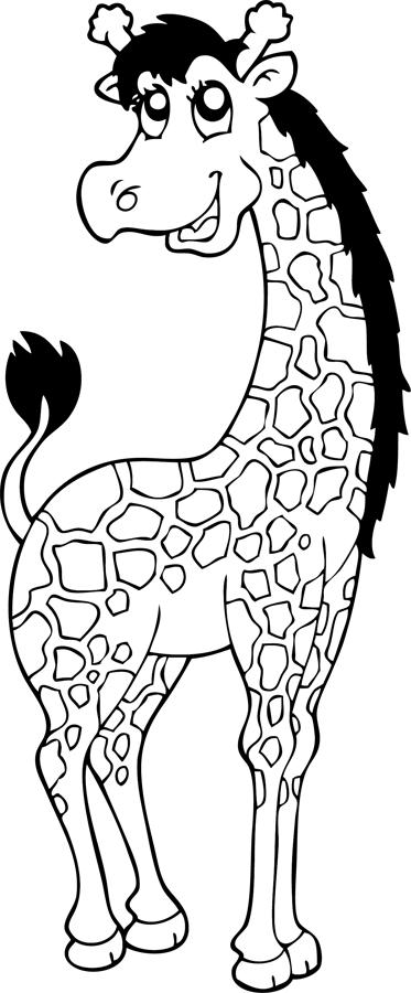 Coloriage une girafe turbulus jeux pour enfants - Girafe a imprimer ...