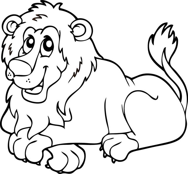 Coloriage imprimer un lion turbulus jeux pour enfants - Comment dessiner un lion ...