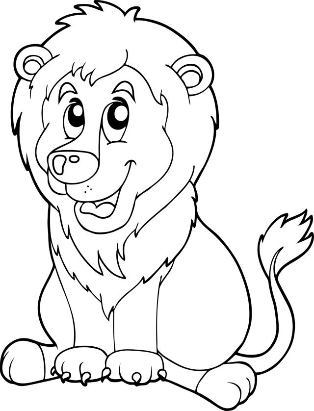 Coloriage Un Lion Assis Turbulus Jeux Pour Enfants