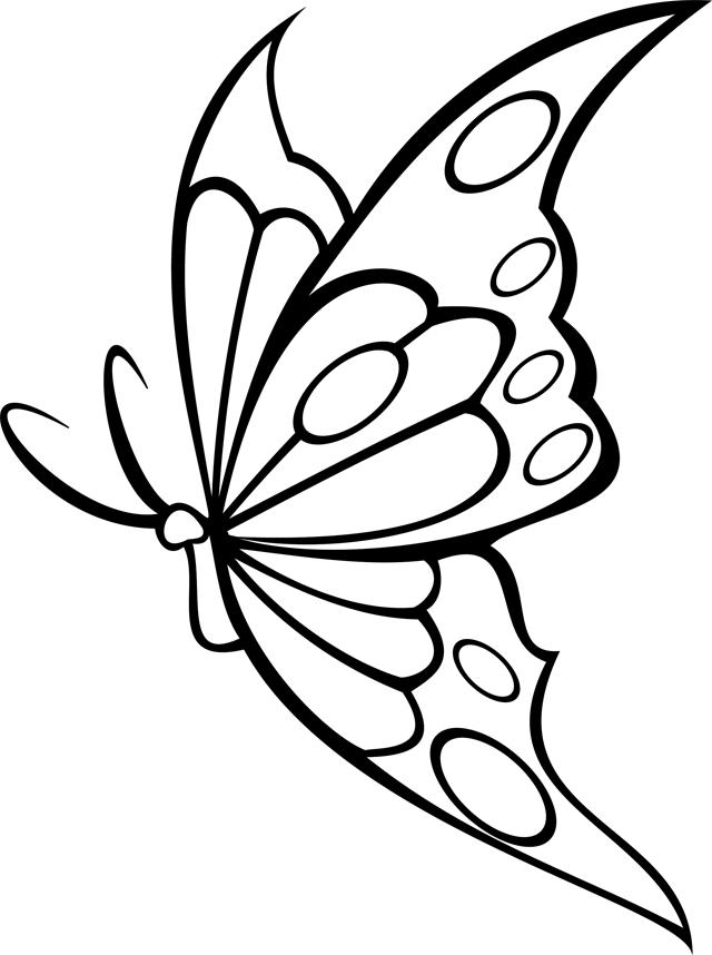 Coloriage à imprimer : un papillon - Turbulus, jeux pour ...