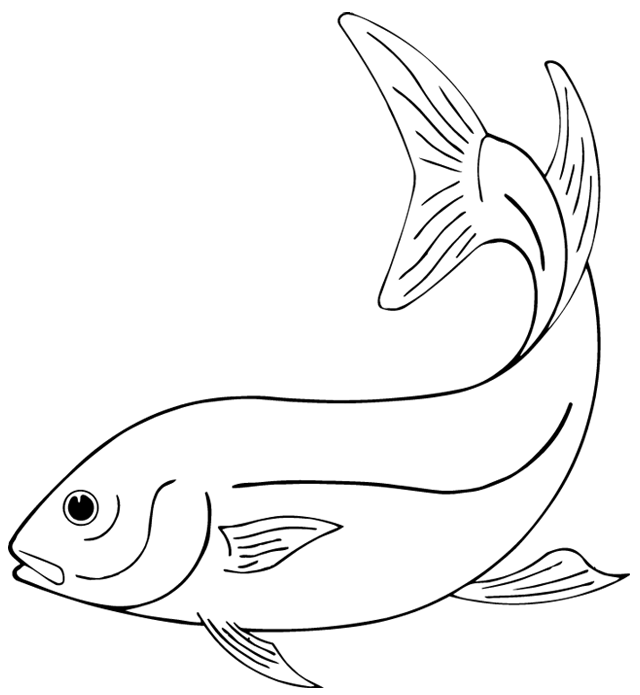 Coloriage imprimer un poisson 1 turbulus jeux for Koi zot i mange zordi