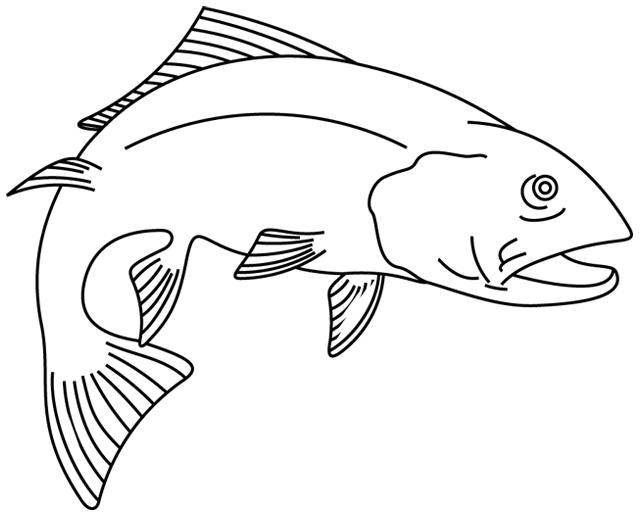 Coloriage imprimer un poisson 4 turbulus jeux - Dessin de poisson facile ...