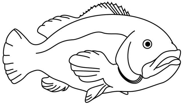 dessin a imprimer poisson