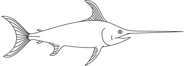 Coloriage imprimer le poisson marlin - Image de poisson a imprimer ...