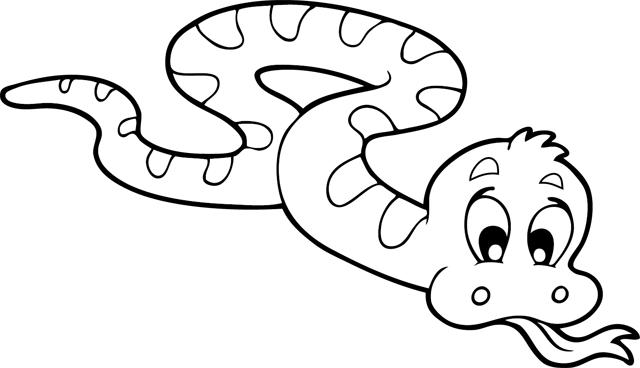 Coloriage à Imprimer : Un Serpent