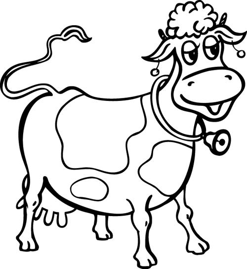 Vache avec clochette turbulus jeux pour enfants - Vache dessin facile ...