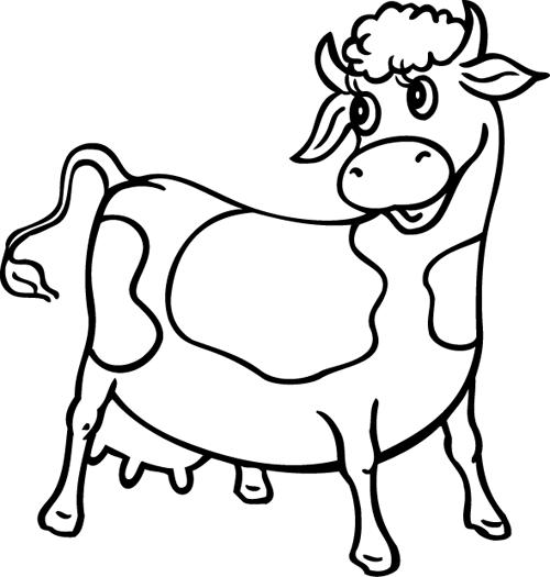 Coloriage vache - Dessin vache facile ...