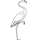 Coloriage : un flamant rose