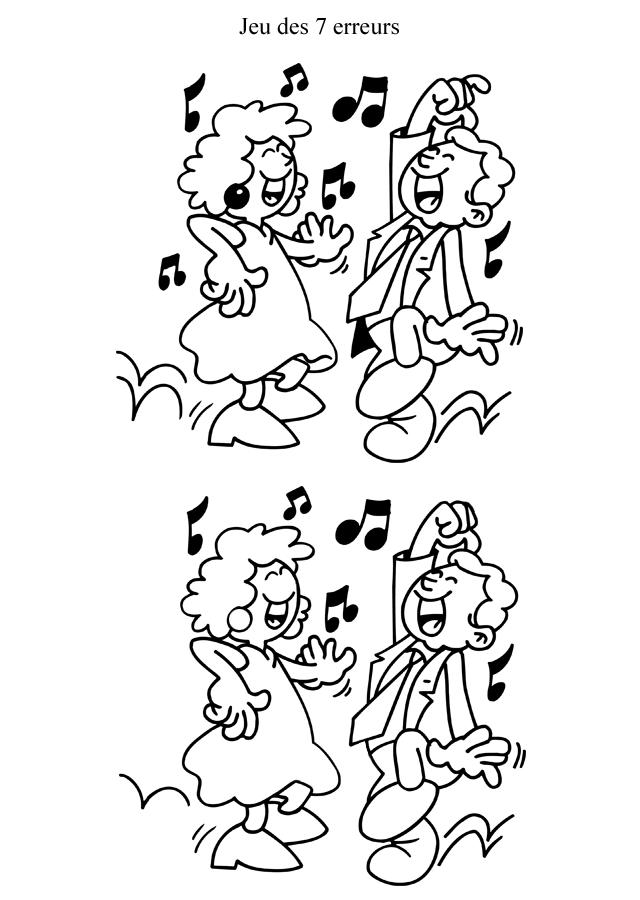 Jeu des 7 erreurs imprimer les danseurs turbulus - Jeu a imprimer pour adulte gratuit ...