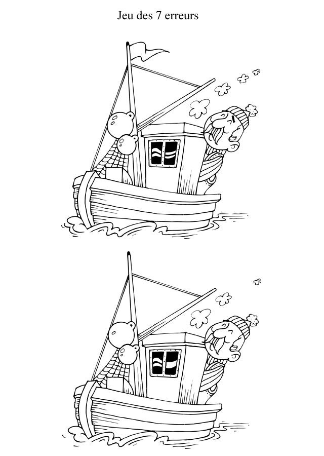 jeu des 7 erreurs imprimer le bateau turbulus jeux pour enfants. Black Bedroom Furniture Sets. Home Design Ideas