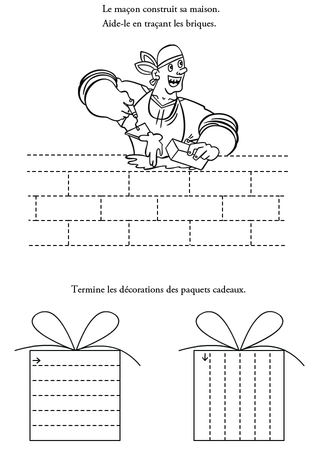 Graphisme imprimer les traits turbulus jeux pour enfants - Relier 9 points avec 3 traits ...